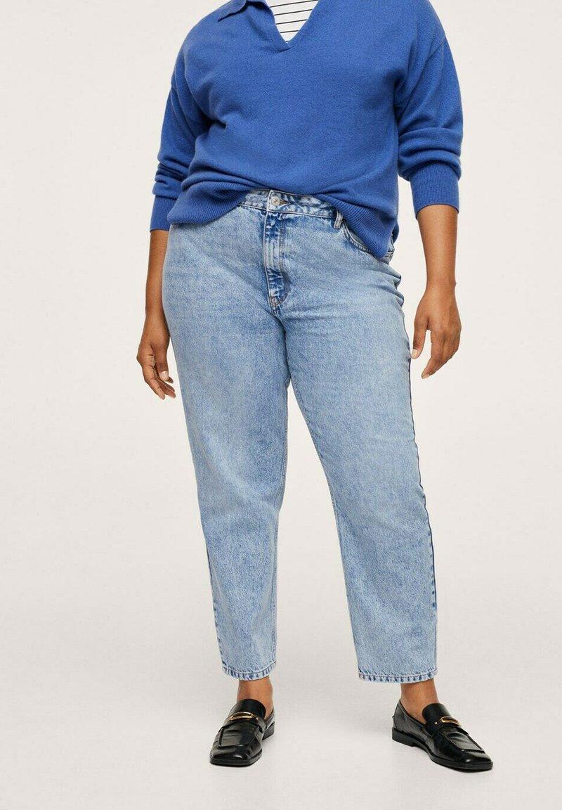 Mango - MOM - Slim fit jeans - mittelblau