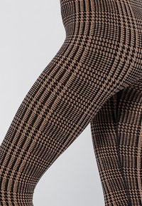 Heart and Soul - HOUNDSTOOTH  - Collant - black/camel - 5