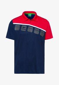 Erima - 5-C POLOSHIRT KINDER - Polo shirt - navy/red/white - 0
