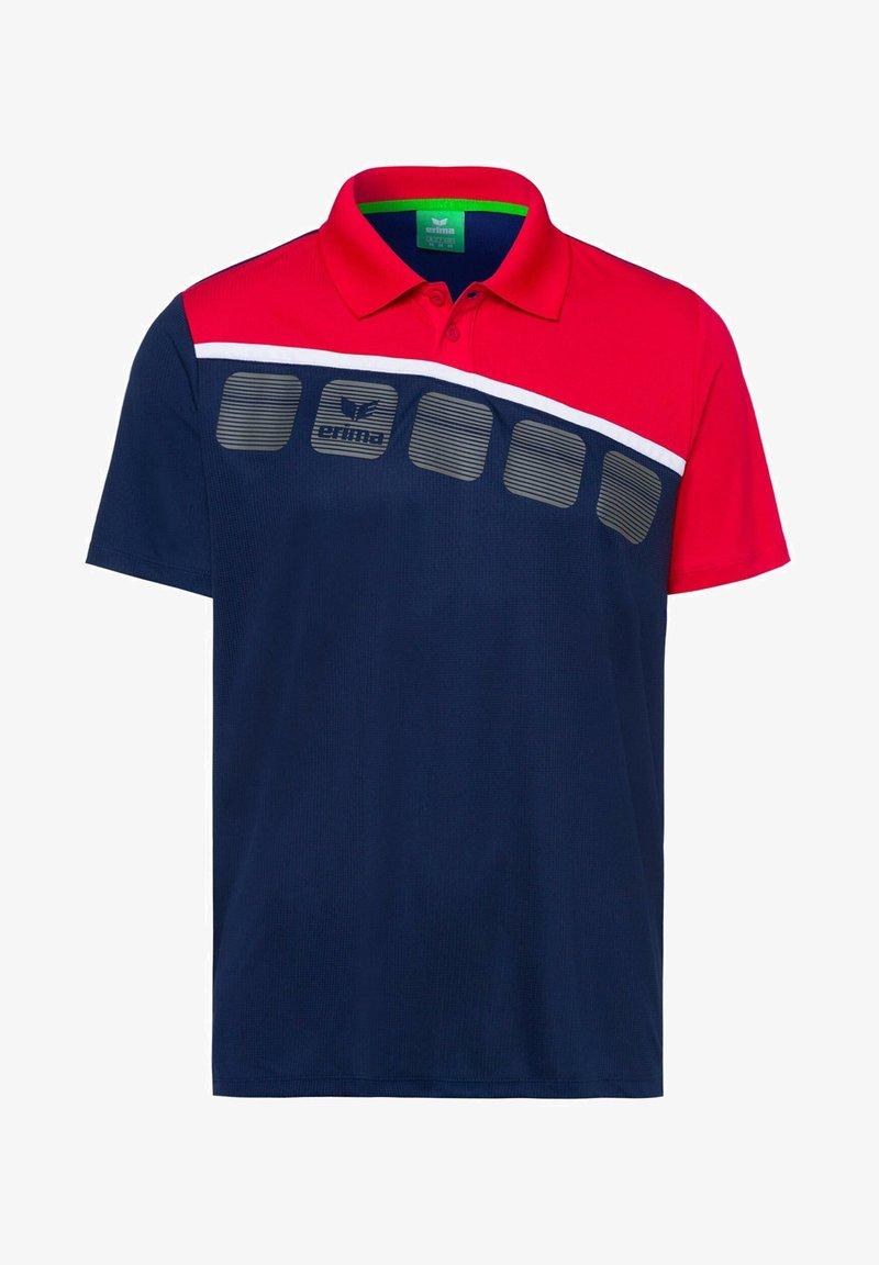 Erima - 5-C POLOSHIRT KINDER - Polo shirt - navy/red/white