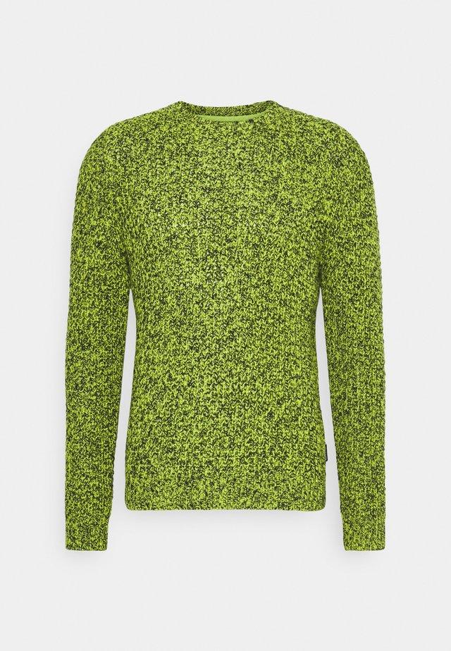 UNISEX MOULINEE WAFFLE CREWNECK - Jumper - neon green