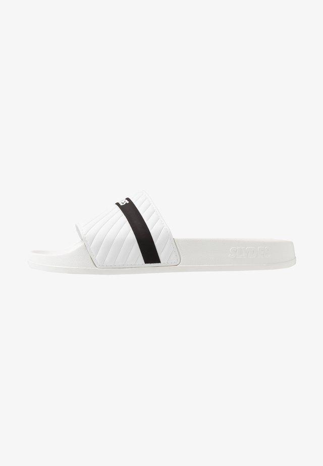 VARSITY - Mules - white/black