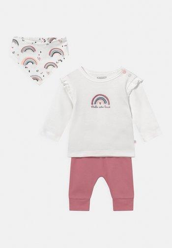 SET - Leggings - Trousers - light pink/white