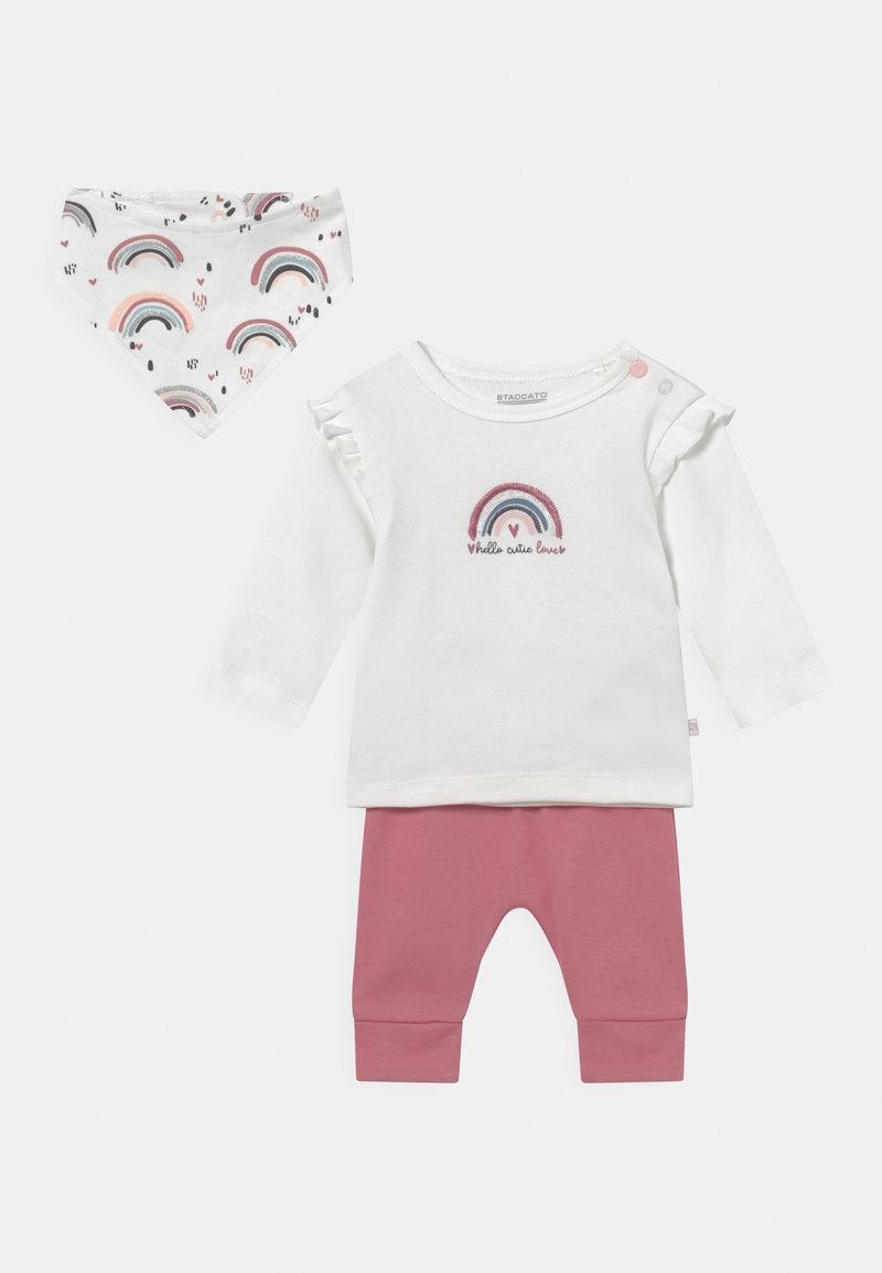 Staccato - SET - Leggings - Trousers - light pink/white