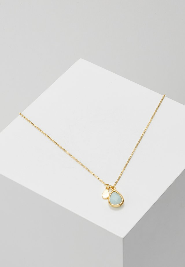 TEARDROP DITSY NECKLACE - Collar - pale gold-coloured