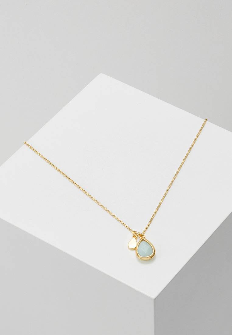 Orelia - TEARDROP DITSY NECKLACE - Halskette - pale gold-coloured
