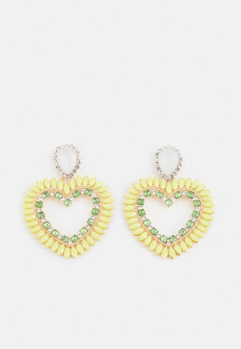 Fire & Glory - FGHEARTINIA EARRINGS - Boucles d'oreilles - gold-coloured/multi