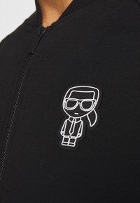 KARL LAGERFELD - ZIP JACKET - Sweat à capuche zippé - black - 6
