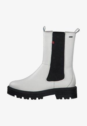 Korte laarzen - cream black