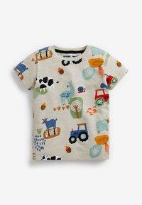 Next - 3 PACK  - Print T-shirt - yellow - 1