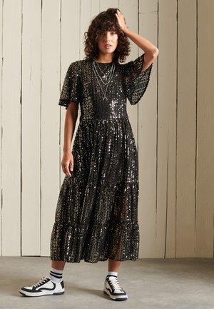 Cocktail dress / Party dress - black sequins
