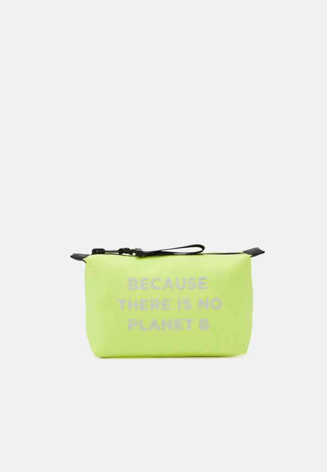 SMALL VANITY CASE MESSAGE - Wash bag - yellow fluor