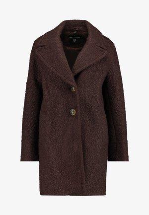 ONE BUTTON COAT - Cappotto classico - fudge