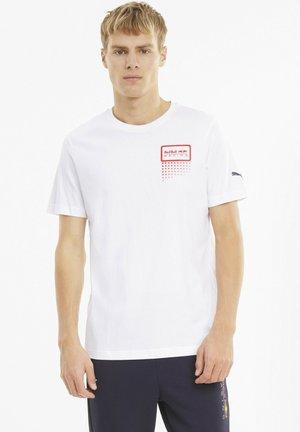 RED BULL RACING DOUBLE BULL  - Print T-shirt - white