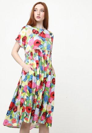 OFELIA - Day dress - blau rot