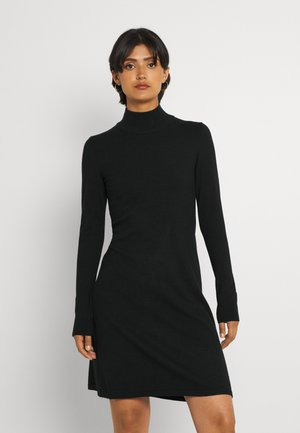 VIBESTINA HIGH NECK DRESS - Gebreide jurk - black