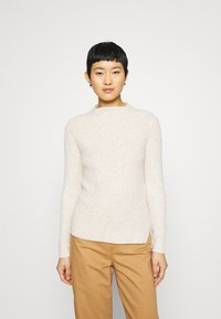 Banana Republic - HIGH NECK  - Jumper - light oatmeal heather - 0