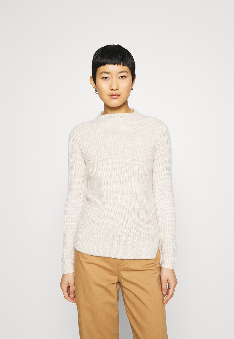 Banana Republic - HIGH NECK  - Jumper - light oatmeal heather
