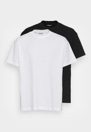 OVERSIZED 2-PACK - Pamata T-krekls - black white