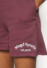 Missguided - MSGD SPORTS RAW HEM - Shorts - burgundy - 4