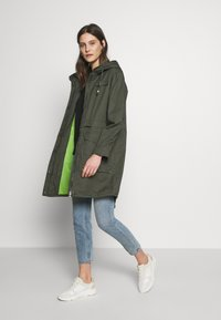 edc by Esprit - SOLID - Parka - khaki green - 1