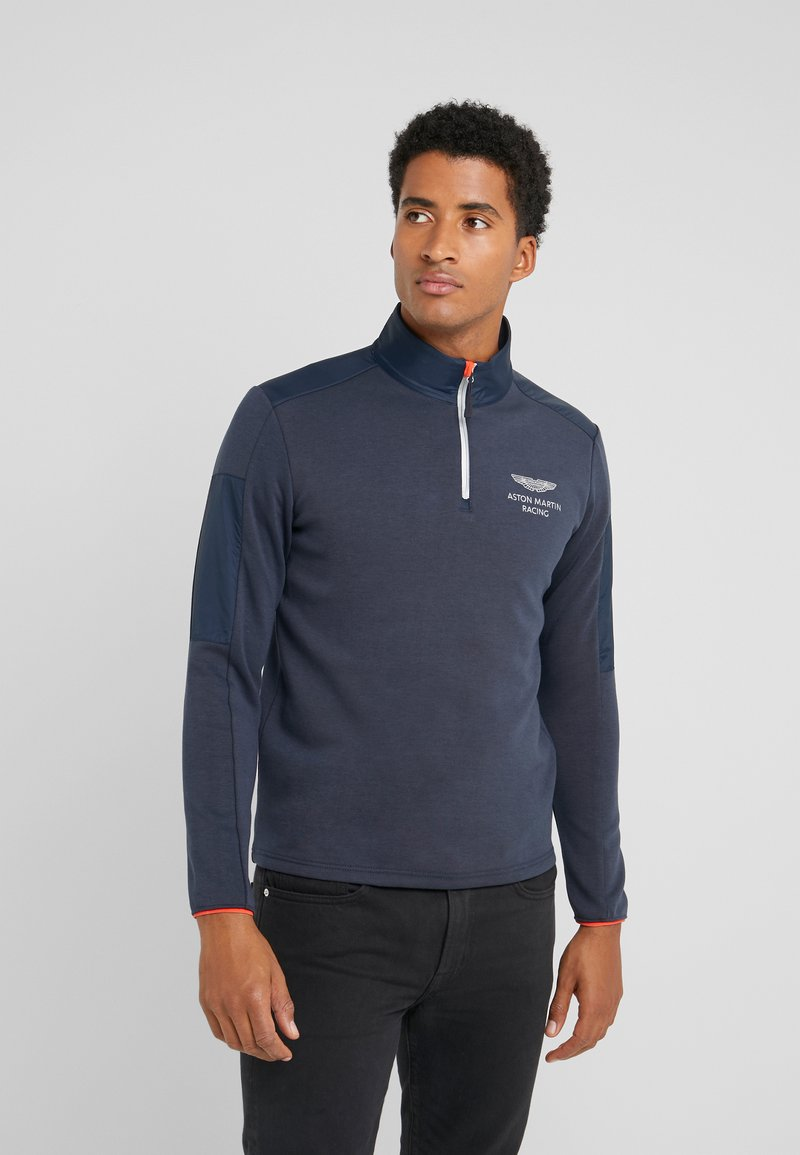 Hackett Aston Martin Racing - SPORT HALF ZIP - Bluzka z długim rękawem - navy