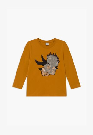 MINI DINO  - Longsleeve - dark dusty yelloy