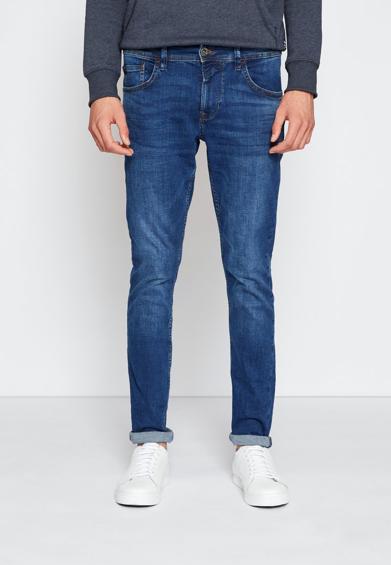 TOM TAILOR DENIM - CULVER - Slim fit jeans - used dark stone blue denim