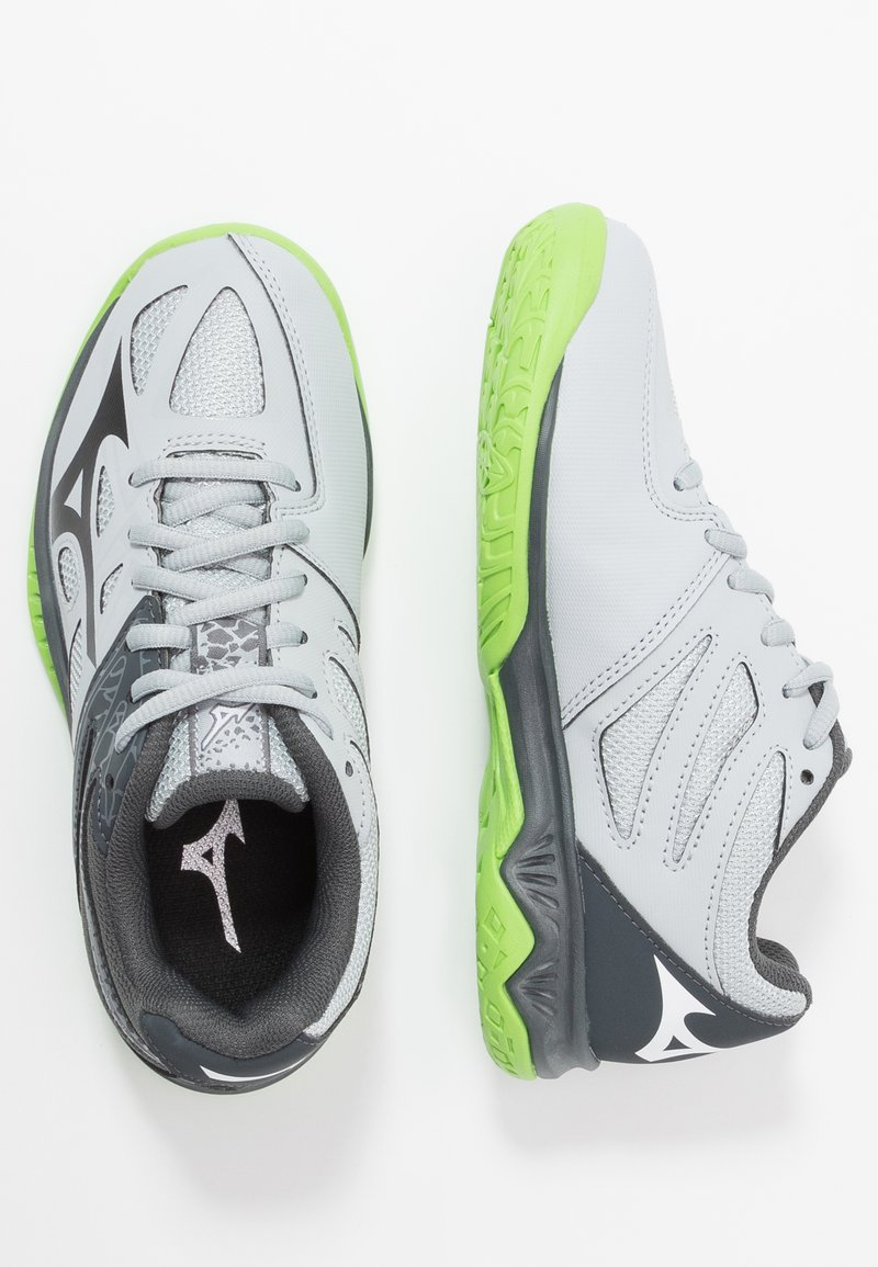 Mizuno - LIGHTNING STAR JR - Volleyball shoes - high rise/black/green gecko