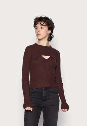 ALANA DOUBLE LAYER 2-IN-1 - Top - chocolate