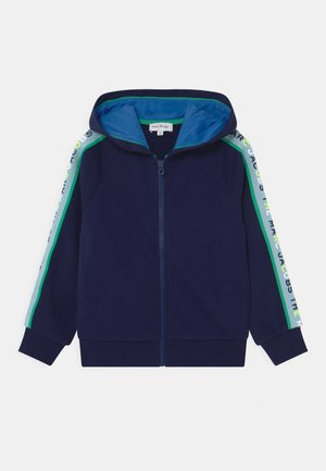HOODED - Zip-up hoodie - medieval blue