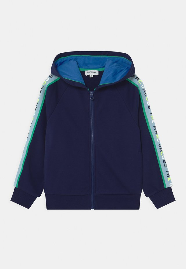 HOODED - veste en sweat zippée - medieval blue