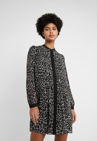 MICHAEL Michael Kors - CHEETAH  - Shirt dress - gunmetal - 0