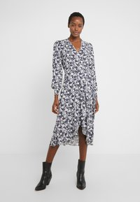 Lauren Ralph Lauren - MATTE DRESS - Žerzejové šaty - navy/pale - 0