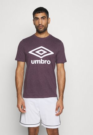 LARGE LOGO TEE - Print T-shirt - blackberry wine