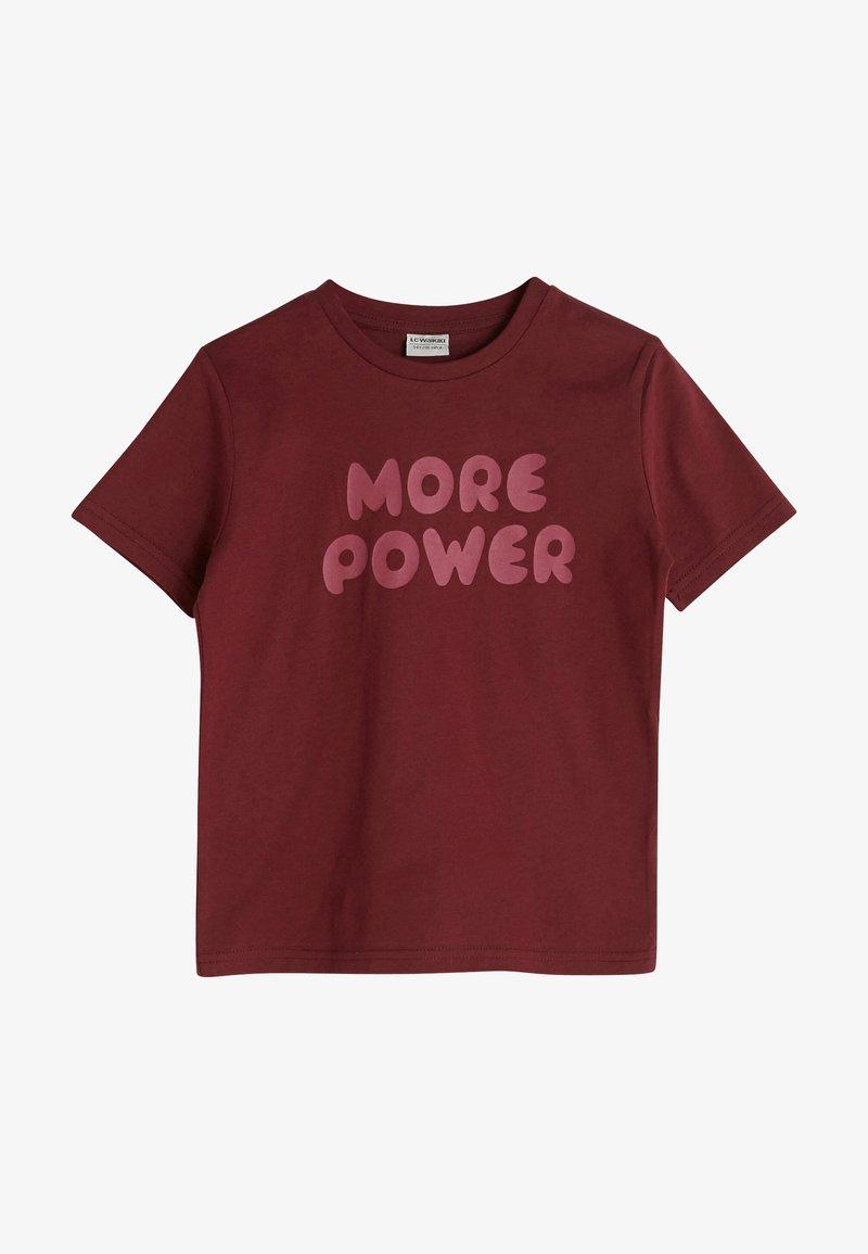 LC Waikiki - Print T-shirt - bordeaux