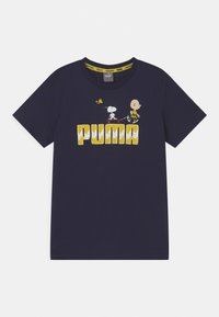 Puma - PUMA X PEANUTS GRAPHIC - Print T-shirt - peacoat - 0