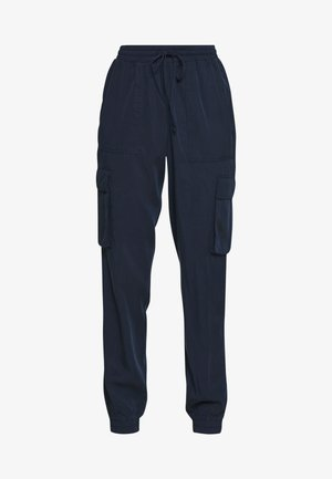 SOFT UTILITY TRACK PANTS - Trousers - real navy blue