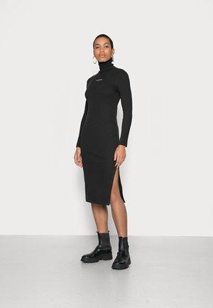 ROLL NECK DRESS - Day dress - black