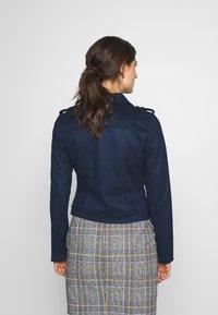 TOM TAILOR DENIM - Faux leather jacket - sky captain blue - 2