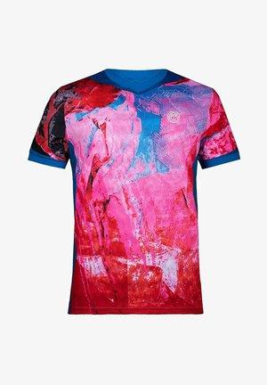 Print T-shirt - blau pink