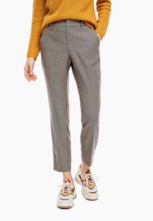 Trousers - dark red check