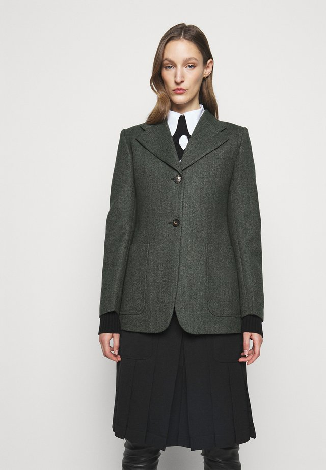 SMALL FITTED JACKET - Blazer - green melange