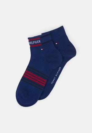 MEN QUARTER BRETON STRIPE 2 PACK - Socks - blue depths