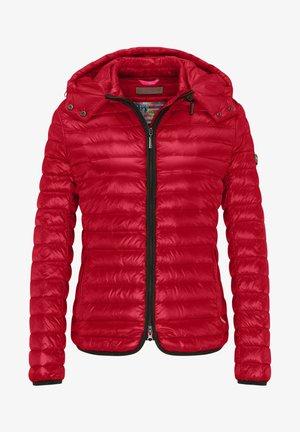 DAUNENJACKE NELLY II MIT ABNEHMBARER KAPUZE - Down jacket - cherry red