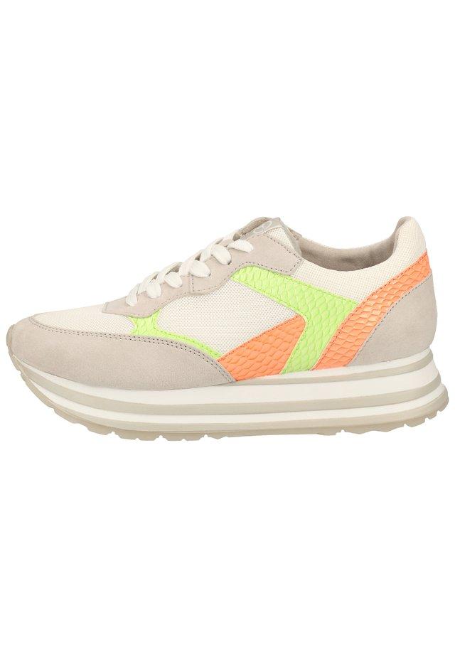 TAMARIS SNEAKER - Sneakers laag - ivory/lt. neon 479