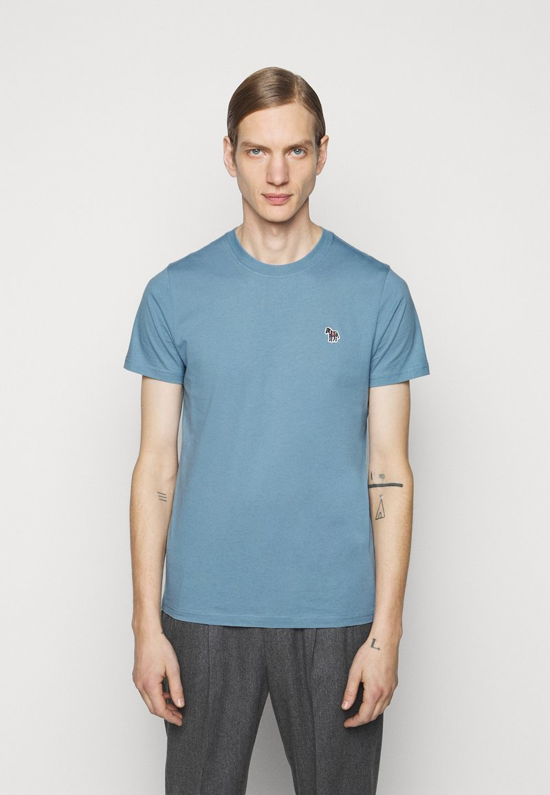 PS Paul Smith - ZEBRA - Basic T-shirt - light blue