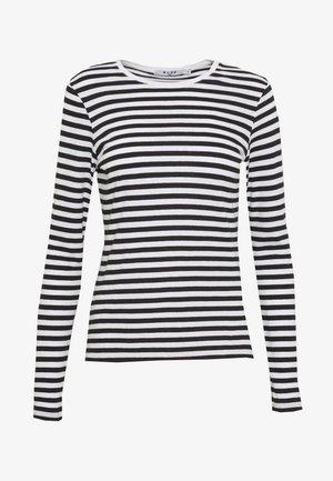 LONG SLEEVE STRIPED TEE - Bluzka z długim rękawem - black/white