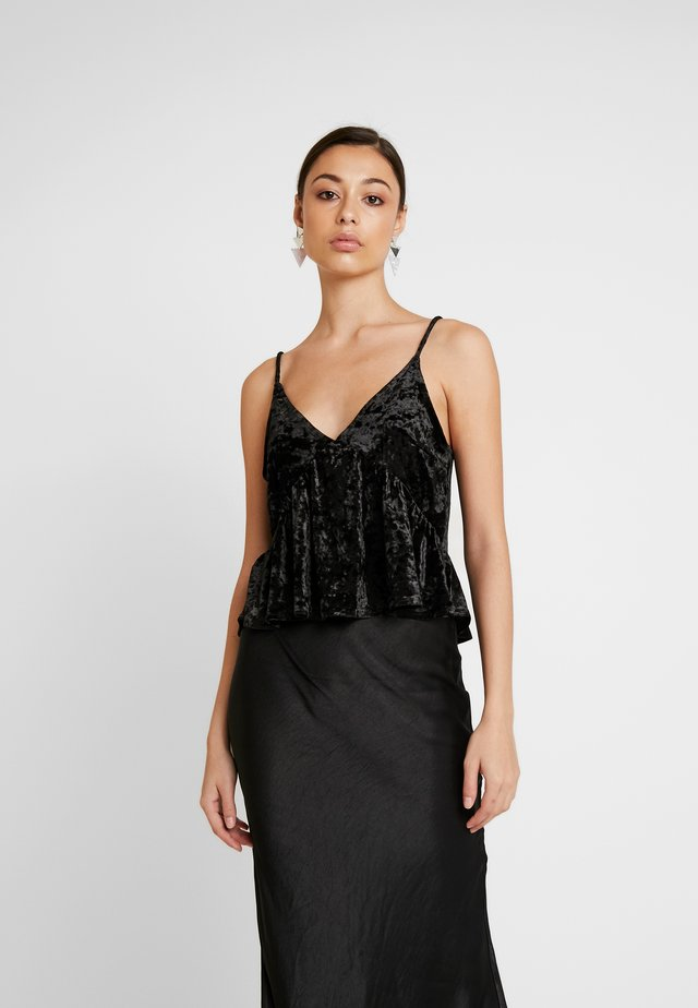 FRILL - Top - black