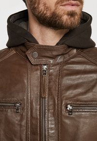 Serge Pariente - ERIC HOOD - Leather jacket - mocca - 5
